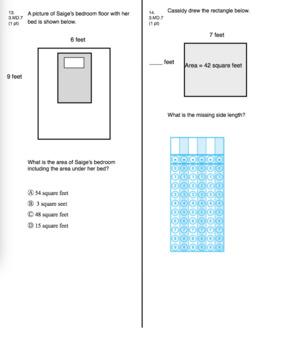 3rd Grade CCSS Fractions (Eureka Module 5 Assessment 1)