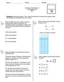 3rd Grade CCSS Multi & Div Math Test (Eureka Module 3 Assessment 3)
