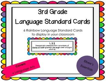 3rd Grade CCSS Rainbow Cards