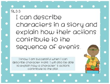3rd Grade CCSS Reading I can statements