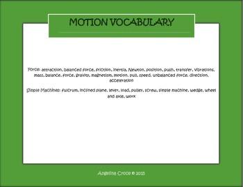3rd Grade CCSS Science Vocabulary