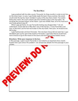 3rd Grade CCSS Sequence Assessment Bank RL3.3