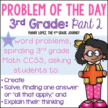 3rd Grade CCSS Spiraling Problem of the Day: Part 2