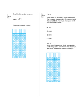 3rd Grade CCSS Time, Multiplication & Division Math Test (Eureka Module 2 and 3)