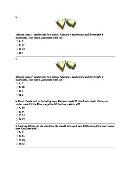 3rd Grade CCSS Two-Step Real World Problems Assessment