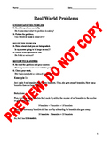 3rd Grade CCSS Two Step Word Problem Assessment Activities & Guided Notes