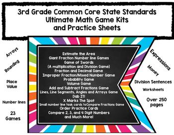 3rd Grade CCSS Ultimate Extravaganza Math Practice Kits