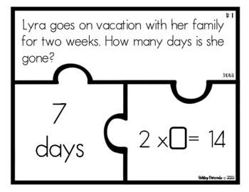 3rd Grade CGI Problem Puzzles -- SET 4