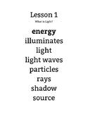 Domain 5 Light & Sound Vocabulary Posters