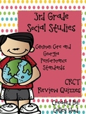 3rd Grade Social Studies GA Milestones Common Core Review Quizzes Test Prep