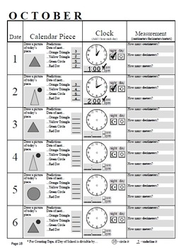 Calendar Math 3rd Grade Math Journal - to be used with Every Day Counts