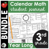 3rd Grade Calendar Math Student Journal Bundle- from Augus