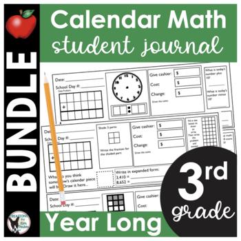 3rd Grade Calendar Math Student Journal Bundle- from Augus