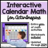 YEAR LONG Calendar Math for ActivInspire & Workbook Pages - Grades 2, 3, 4