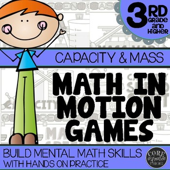 3rd Grade Capacity & Mass Math Games   Hands-On Learning for Workshop & Centers