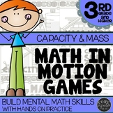 3rd Grade Capacity & Mass Math Games   Hands-On Learning f