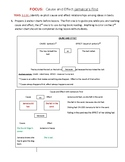 Cause and Effect Lesson Reading TEKS 3.13C