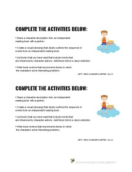 3rd Grade Center Task Cards to Accompany ReadyGEN Reading Unit 1, Module A
