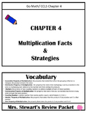 3rd Grade, Chapter 4 Go Math Review Packet