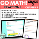 3rd Grade Chapter 9 Go Math: Comparing Fractions | Google Forms