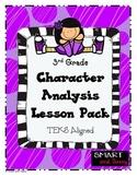3rd Grade Character Analysis Lesson Pack TEKS Aligned