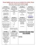3rd Grade Choice Board A