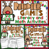 3rd Grade Christmas Activities: 3rd Grade Reindeer Games Literacy and Math