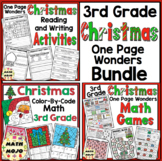 3rd Grade Christmas Activities: Christmas Reading, Writing, and Math