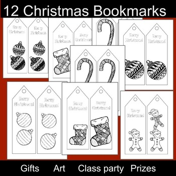3rd Grade Christmas: Christmas Bookmarks and Coloring Pages