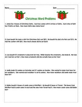 3rd Grade Christmas Math