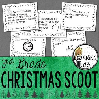 3rd Grade Christmas Math Scoot