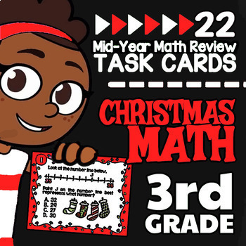 3rd Grade Christmas Math Task Cards ★ 3rd Grade Math Christmas Activity