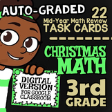 Christmas Google Classroom™ ★ Christmas Self-Graded 3rd Grade Math Review