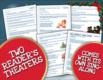 3rd Grade Christmas Reading Activities & Video, Holiday Reader's Theater Packets