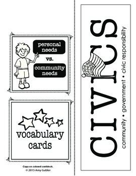 3rd Grade Civics Common Core Lapbook