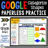 3rd Grade Classify Quadrilaterals Google Classroom Distance Learning| 3.G.1