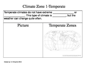 3rd Grade Climate Zones of the World Booklet-NGSS aligned
