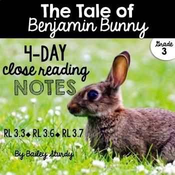 3rd Grade Close Read - Benjamin Bunny