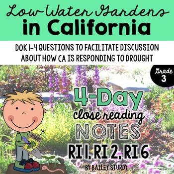 3rd Grade Close Read - Low Water Gardens