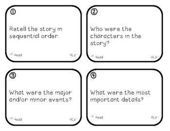 3rd Grade Close Reading 52 Task Cards Bundle