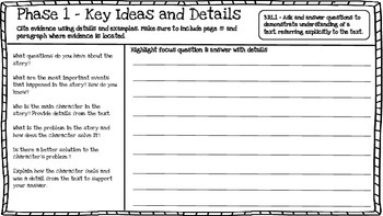 3rd Grade Close Reading Booklet (High Order Questions)