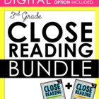 3rd Grade Close Reading - Informational AND Literature BUNDLE (97 passages)