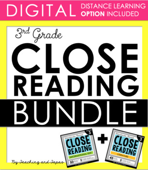3rd Grade Close Reading - Informational AND Literature BUNDLE (100 passages)