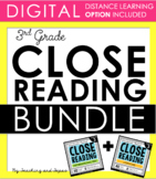 3rd Grade Close Reading - Informational & Literature BUNDLE (DISTANCE LEARNING)