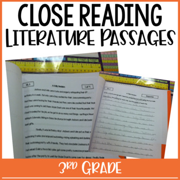 3rd Grade Close Reading Passages & Constructed Response {Common Core:Literature}