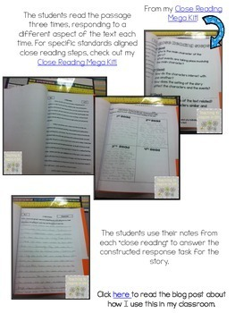 3rd Grade Close Reading Passages & Constructed Tasks {Common Core:Informational}