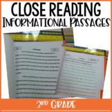 3rd Grade Close Reading Passages & Constructed Tasks {Comm