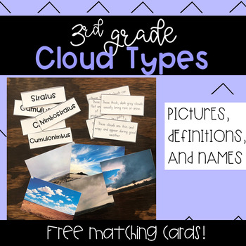 3rd Grade Clouds Matching Cards