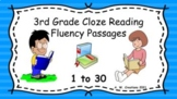 3rd Grade Cloze Reading Fluency Passages - Sets 1 to 30 (G