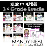 3rd Grade Color By Number Math Bundle